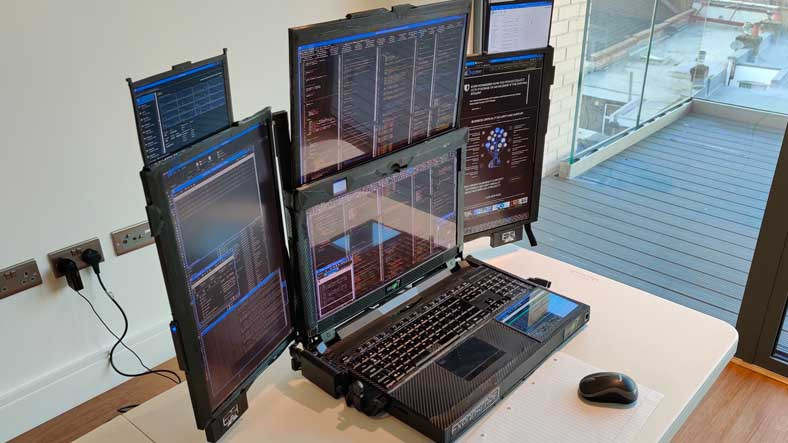 7 Dahili Ekranlı Garip Bir Tasarıma Sahip Olan Dizüstü Bilgisayar: Aurora 7